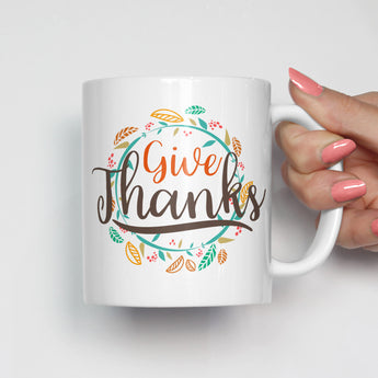 Give Thanks Mug