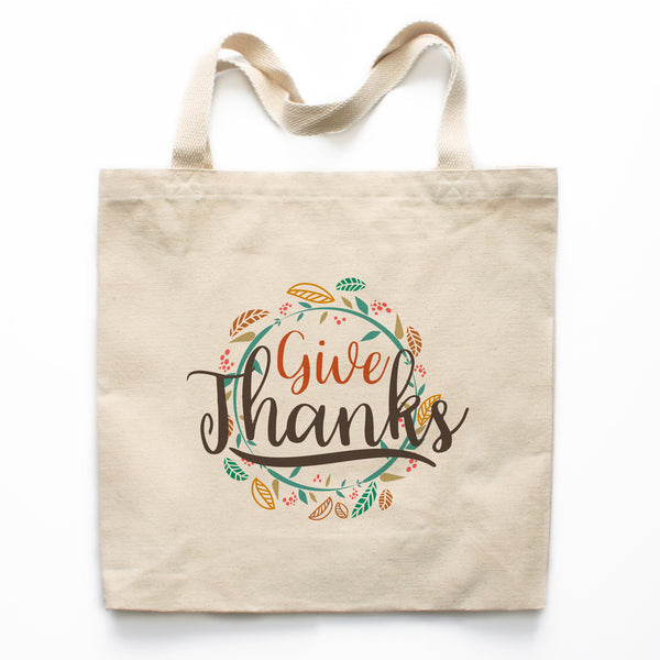 Give Thanks Canvas Tote Bag