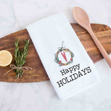 Happy Holidays Christmas Kitchen Towel