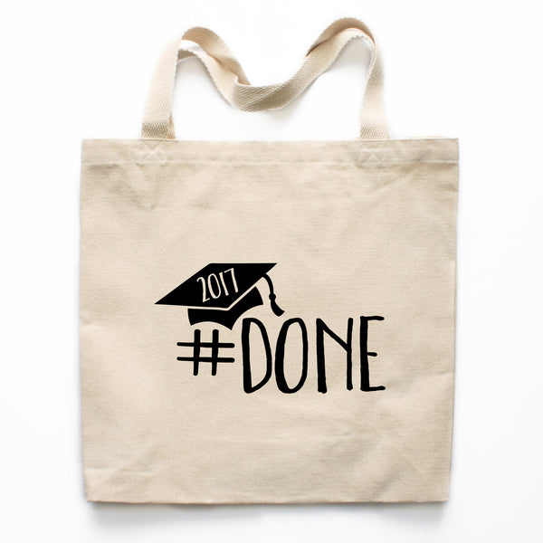 #Done Graduation Canvas Tote Bag