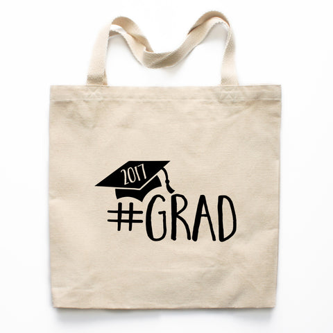 #Grad Graduation Canvas Tote Bag