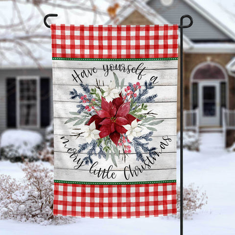 Have yourself a merry little Christmas personalized holiday garden flag