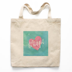Hello Beautiful Canvas Tote Bag