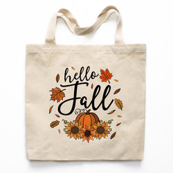 Hello Fall Canvas Tote Bag