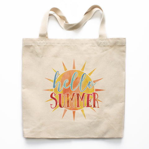 Hello Summer Canvas Tote Bag