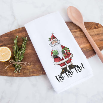 Ho Ho Ho Santa Decorative Christmas Holiday Kitchen Hand Towel