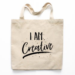 I Am Creative Canvas Tote Bag