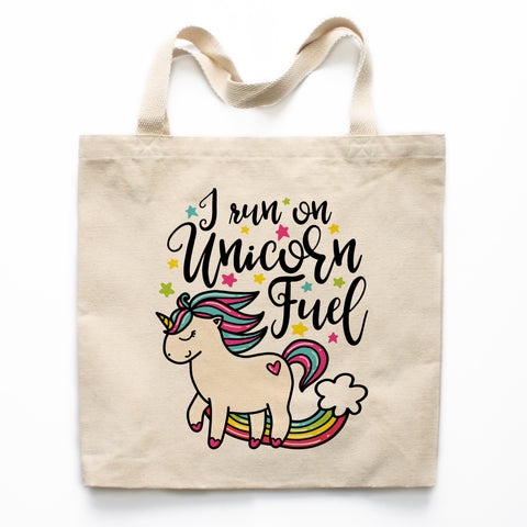 Unicorn Fuel Canvas Tote Bag