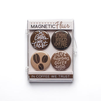 In Coffee We Trust Magnet Set