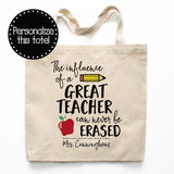 The Influence Of A Great Teacher Canvas Tote Bag