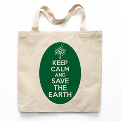 Keep Calm And Save The Earth Canvas Tote Bag