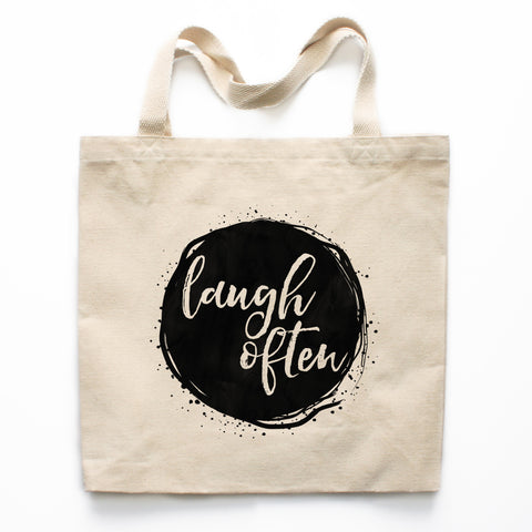 Laugh Often Canvas Tote Bag