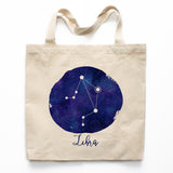 Libra Zodiac Constellation Canvas Tote Bag