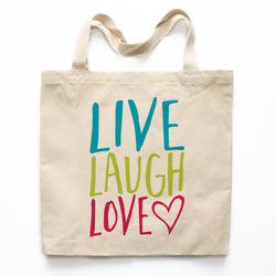 Live Laugh Love Canvas Tote Bag