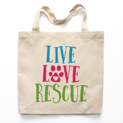 Live Love Rescue Canvas Tote Bag