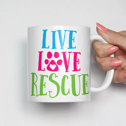 Live Love Rescue Pet Adoption Mug