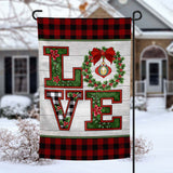 Christmas Love personalized holiday Garden Flag