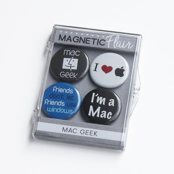 Mac Geek Magnet Set