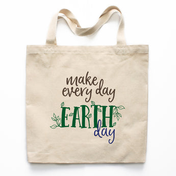 Make Every Day Earth Day Canvas Tote Bag