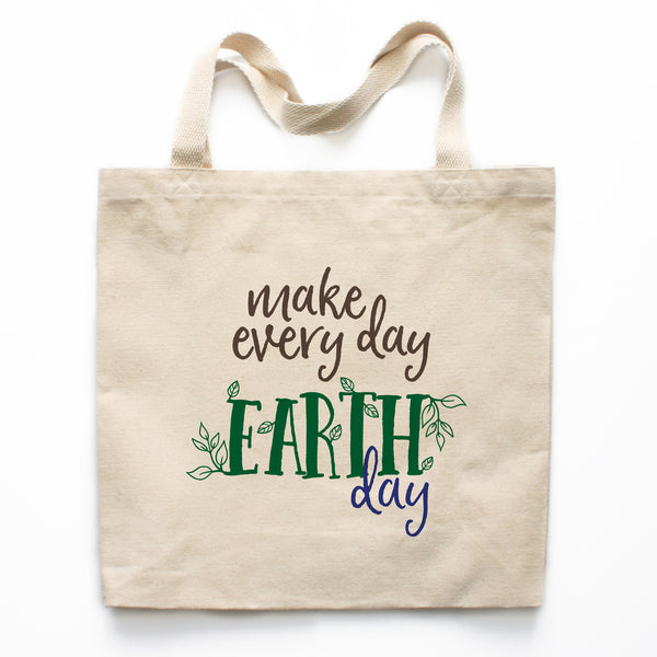 Verwonderend Make Every Day Earth Day Canvas Tote Bag – Heart & Willow Prints ZT-96