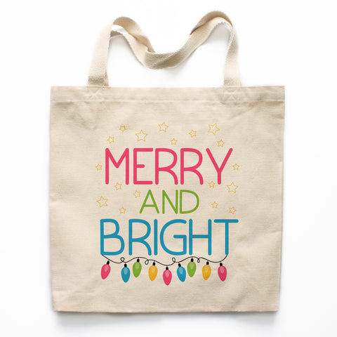 Merry and Bright Canvas Tote Bag