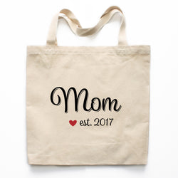 Mom Canvas Tote Bag