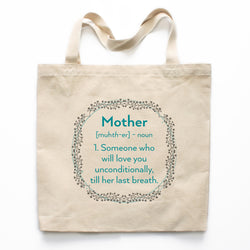 Definition Of A Mother Canvas Tote Bag