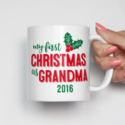 My First Christmas as Grandma Mug