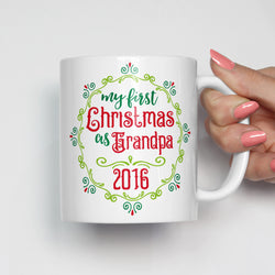 My First Christmas as Grandpa Mug