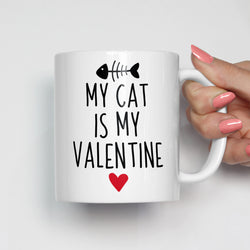 My Cat Is My Valentine Mug