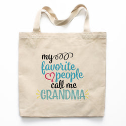 My Favorite People Call Me Grandma Canvas Tote Bag