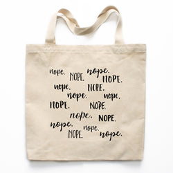 Nope Canvas Tote Bag