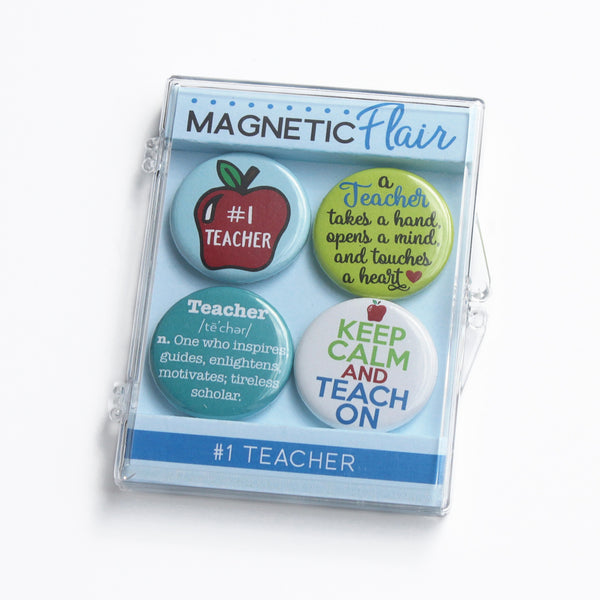 #1 Teacher Magnet Set