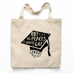 Oh! The Places You'll Go! Graduation Canvas Tote Bag