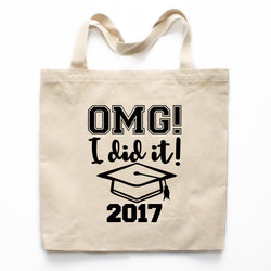 OMG I Did It Graduation Canvas Tote Bag