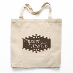 Organic Market Farmer's Market Canvas Tote Bag