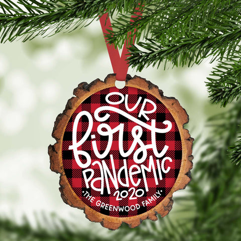 Our first pandemic  funny 2020 personalized christmas ornament