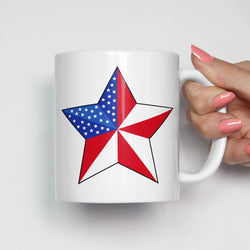 American Flag Star Patriotic Mug