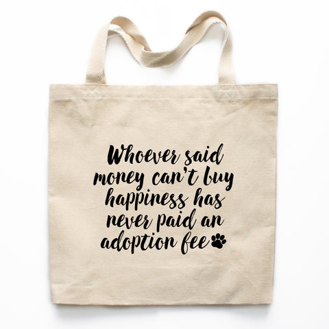 Adopt Don't Shop Canvas Tote Bag