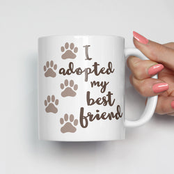 I Adopted My Best Friend Pet Adoption Mug