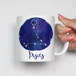 Pisces Zodiac Constellation Mug