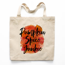 Pumpkin Spice Junkie Canvas Tote Bag
