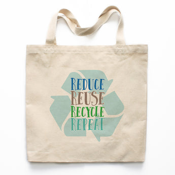 Reduce Reuse Recycle Repeat Canvas Tote Bag