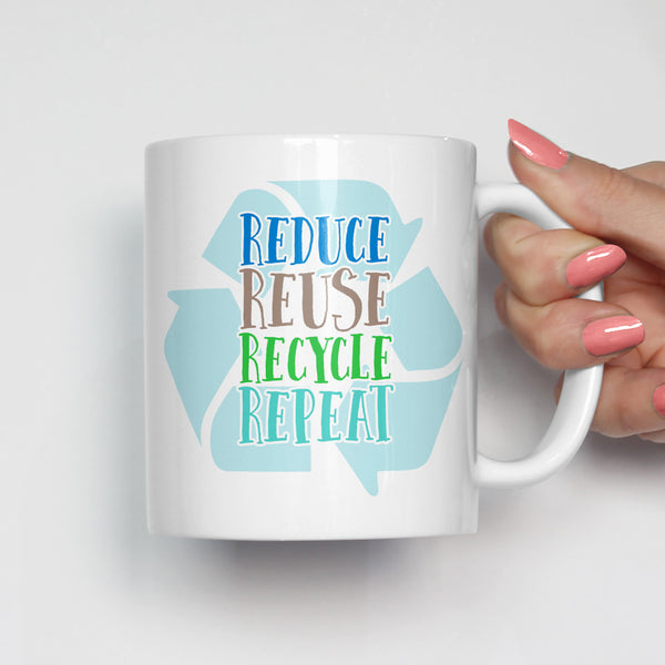 Reduce Reuse Recycle Repeat Mug