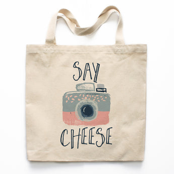 Say Cheese Canvas Tote Bag