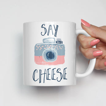 Say Cheese Camera Mug