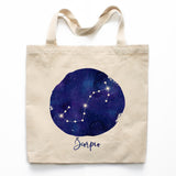 Scorpio Zodiac Constellation Canvas Tote Bag