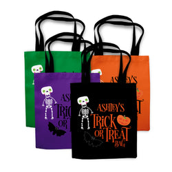 Skeleton Halloween Trick or Treat Bag
