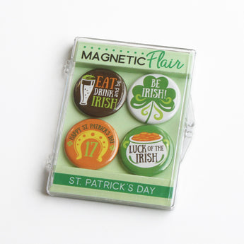 Eat, Drink, and Be Irish St. Patrick's Day Magnet Set