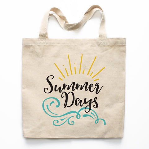 Summer Days Canvas Tote Bag